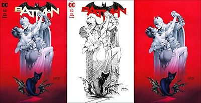 Batman #50 ~ Linsner Wedding Variant ~ 3-Cover Set ~ Galaxy Comics Exclusive