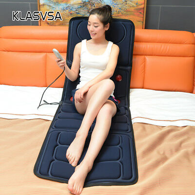 Massager Mattress Full Body Heated Therapy Vibrate Massage Cushion Mat Foldable