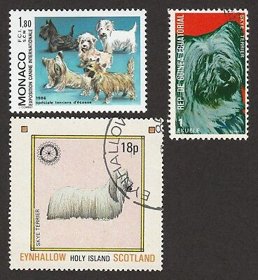 SKYE TERRIER ** Int'l Dog Postage Stamp Collection ** Unique Gift*