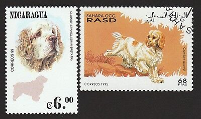 CLUMBER SPANIEL ** Int'l Dog Stamp Collection ** Unique Gift **