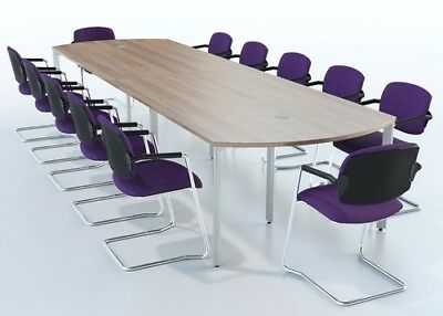 Bow Ended Meeting / Boardroom / Conference Table Choice of Sizes & Finishes