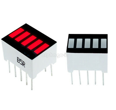 5PCS 5 Segment Red Color 1 Digit Bar LED Display for arduino NEW