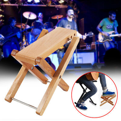 Classical Wooden Guitar Pedal Collapsible Height Adjustment Footrest for Guitar
