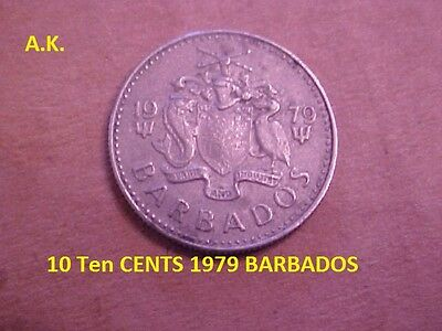 Ten CENTS 1979 BARBADOS