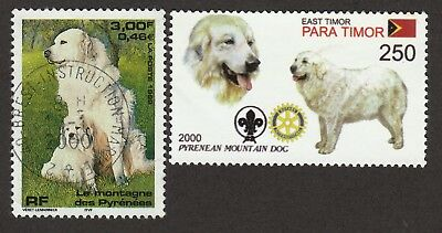 PYRENEAN MOUNTAIN DOG ** Int'l Dog Stamp Collection ** Unique Gift **