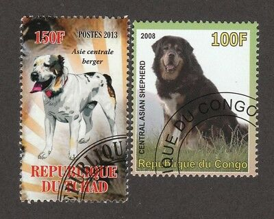 CENTRAL ASIAN SHEPHERD ** Int'l Dog Postage Stamp Collection ** Unique Gift **