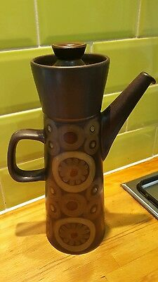 Vintage Denby Arabesque Very Large Coffee Pot