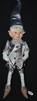 Elf Doll - Blue & Silver