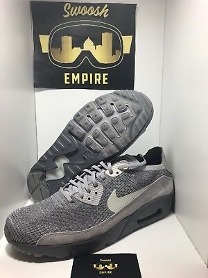 finest selection a9992 690b3 Nike Air Max 90 Ultra 2.0 Flyknit Atmosphere Grey  875943-007  Men s Sz