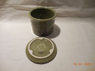 Longaberger Woven Traditions One Pint Salt Crock w/Lid - New in box - Sage