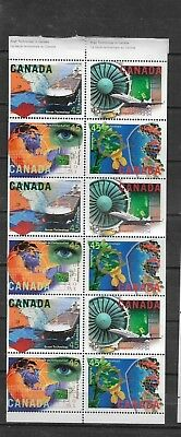 pk36479:Stamps-Canada #1598a Hi Tech Industry 12 x 45 cent Booklet Pane- MNH