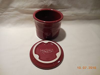 Longaberger WT One Pint Salt Crock w/Lid - New in box - USA - PAPRIKA
