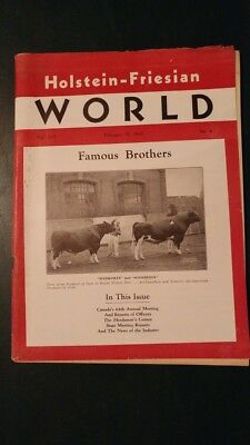 Holstein World 1947 Famous Mount Victoria Sires + All-Canadians + Rinkland Herd