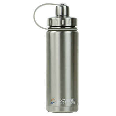 The BOULDER - Insulated Stainless Steel Water Bottle w/ Strainer - 600ml (Eco...