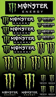 Monster Energy Drink sticker sheet 20 stickers in total