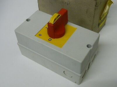 Kraus & Naimer KG20 4 Pole Non Fused Isolator Switch 7.5kw 25amps