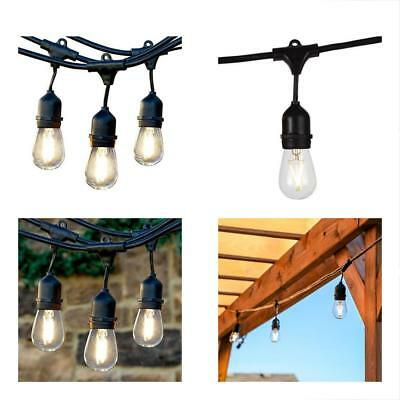 Brightech Ambience Outdoor Lighting Pro Commercial Grade Strand With Hanging 1W