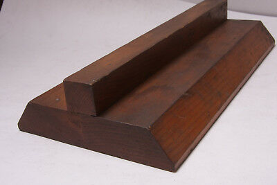 """Lamson Vintage Industrial Foundry Wood ~12"""" Slider Mount Block Mold Pattern M17A"""