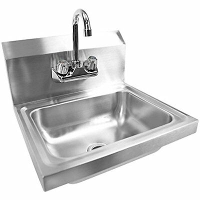 Gridmann Commercial Bar Sinks NSF Stainless Steel Wall Mount Hand Washing Basin