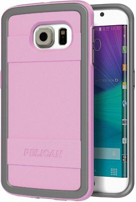 New Pelican ProGear Samsung Galaxy S6 Edge Pink Gray Protector Series Cover Case