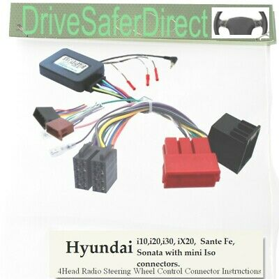 SWC-2974-02J Stalk Adaptor,ISO-JOIN for Android Chinese Radio/Hyundai i20 09-12