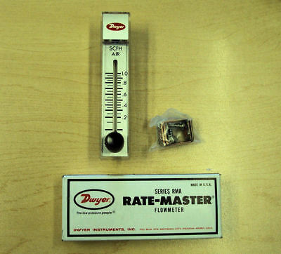 Dwyer Rate-Master Flow Meter - Series RMA-2-SSV - Brand New!