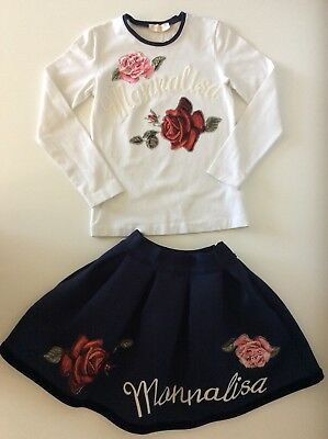 Monnalisa Chic Girls Outfit Set Skirt And Top Age 8 Years Vgc