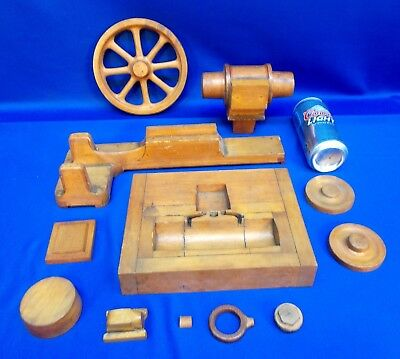 B149 - Set of Wood Molds for SMALL STEAM ENGINE, Very Nice