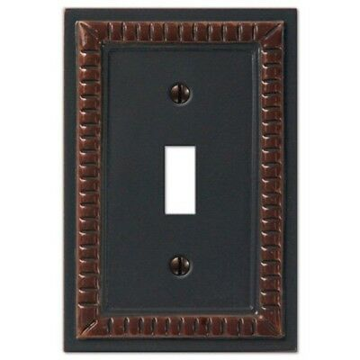 Creative Accents (849CHOC01) 1-Toggle Wallplate, Ceramic Resin - Lot of 3