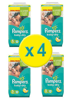 Pampers Couches Baby Dry Taille 5 Junior (11-25kg) Giga  - 4 x 108 couches