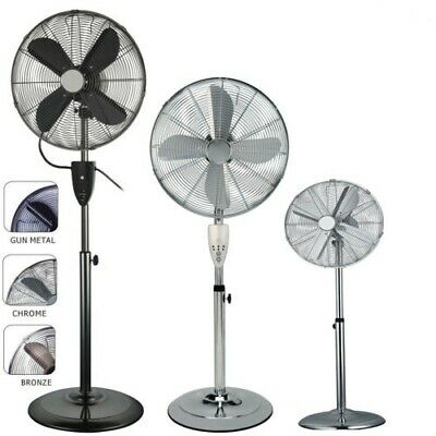 """G4RCE 16"""" Inch Home Office Oscillating Pedestal Fan with Remote Control + Timer"""