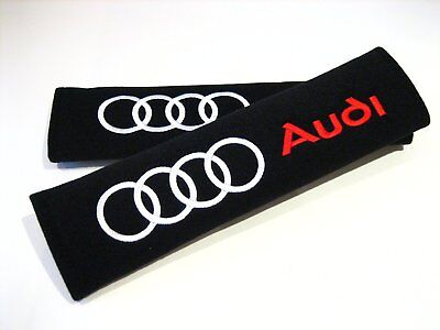 1 Pair Racing Style AUDI Seat Belt Pads for Quattro A3 A4 A5 A6 Q3 Q5 Q7 Q8 RS6