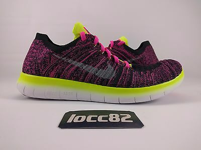 326600615f20b NIKE FREE RN Flyknit Size 7Y Womens 8 Multicolor Running Shoes ...