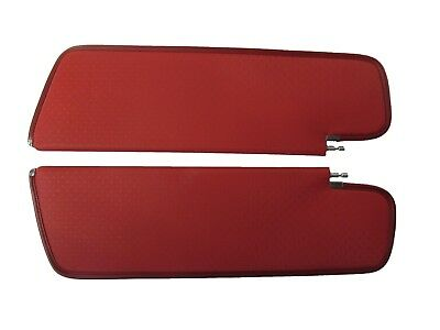 1962-63 Chevy Impala 2Dr Hardtop Sunvisors, Star Pattern, Red Color, Pair