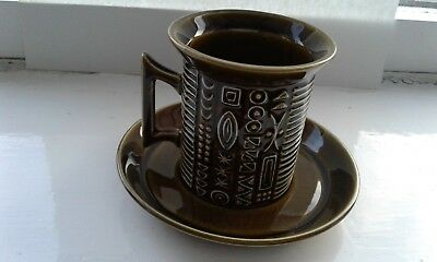 Portmeirion Cypher coffee cup & saucer designed by S W Ellis in the 60's