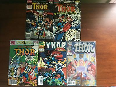 Lot 5 Thor 1962-1996 1st Series Journey Into Mystery 475 Annual 14-16 18 FN Fine