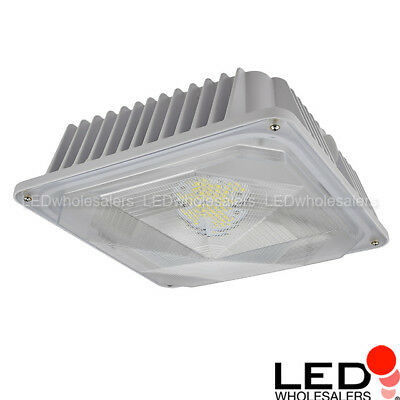60-Watt Outdoor LED Canopy Ceiling Light Fixture UL-Listed, 120-240/277VAC