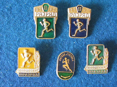 Russian Badges - Lot of 5 - Athletics