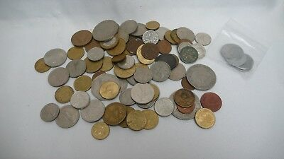 Large Job Lot Collection Of Old Foreign and British Coins MIXED BUNCH