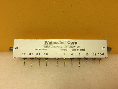 Weinschel 6169 (3209-1E) DC to 3 GHz, SMA (F) Programmable Attenuator. Tested!