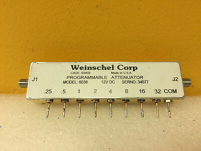 Weinschel 6038 (3200-2E) DC to 3 GHz, SMA (F) Programmable Attenuator. Tested!