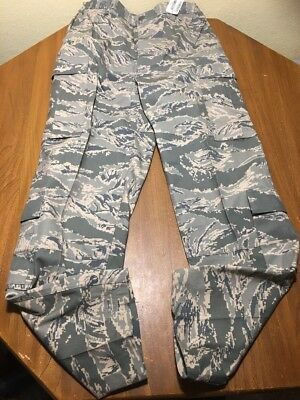 USAF Air Force ABU Tiger Stripe Camo Cargo 32R Pants Mens Utility Trousers