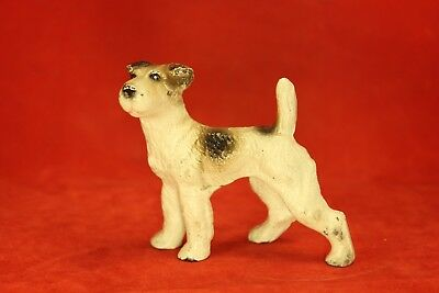 Antique Vintage Hubley Cast Iron Airedale or Terrier Paperweight - All Original