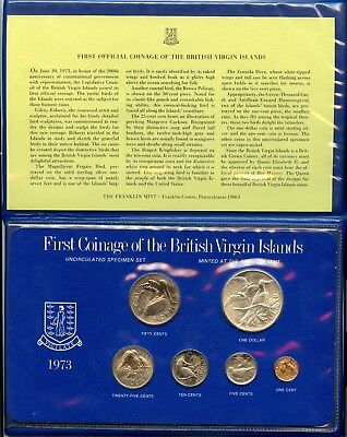 1973 British Virgin Islands UNC Set with Sterling Silver Dollar | Low Mintage