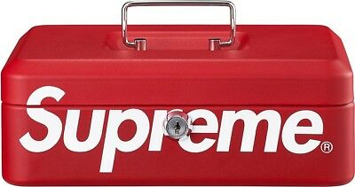Supreme Storage Red Lock Box  FW17 With Keys