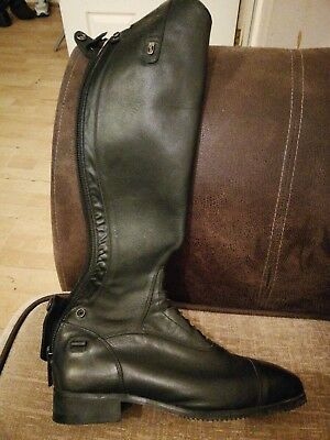 Tredstep Donatello SQ Field Lace up Leather Long Riding Boots Black Size 6