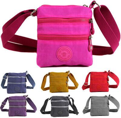 Ladies Unisex Mini Messenger Cross Body Bag Women Shoulder Over Holiday Money Tr