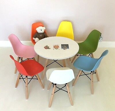 Brilliant Childrens Kids 2 Chairs Table Dsw Eiffel Style 7 Colours Gmtry Best Dining Table And Chair Ideas Images Gmtryco