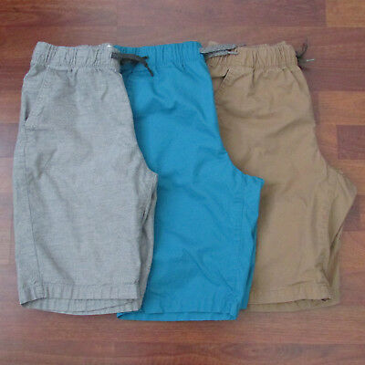 Old Navy Boys Lot of 2 Solid Gray Brown Blue Casual Style Walking Shorts Size XL