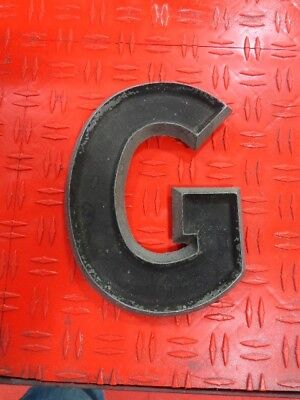 """Vintage Adler 8"""" letter G(b) CAST ALUMINUM METAL MARQUEE MOVIE THEATER SIGN"""